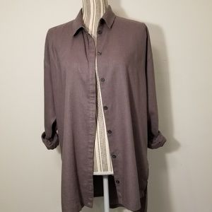 URBAN OUTFITTERS SILANCE + NOISE  BUTTON UP TUNIC